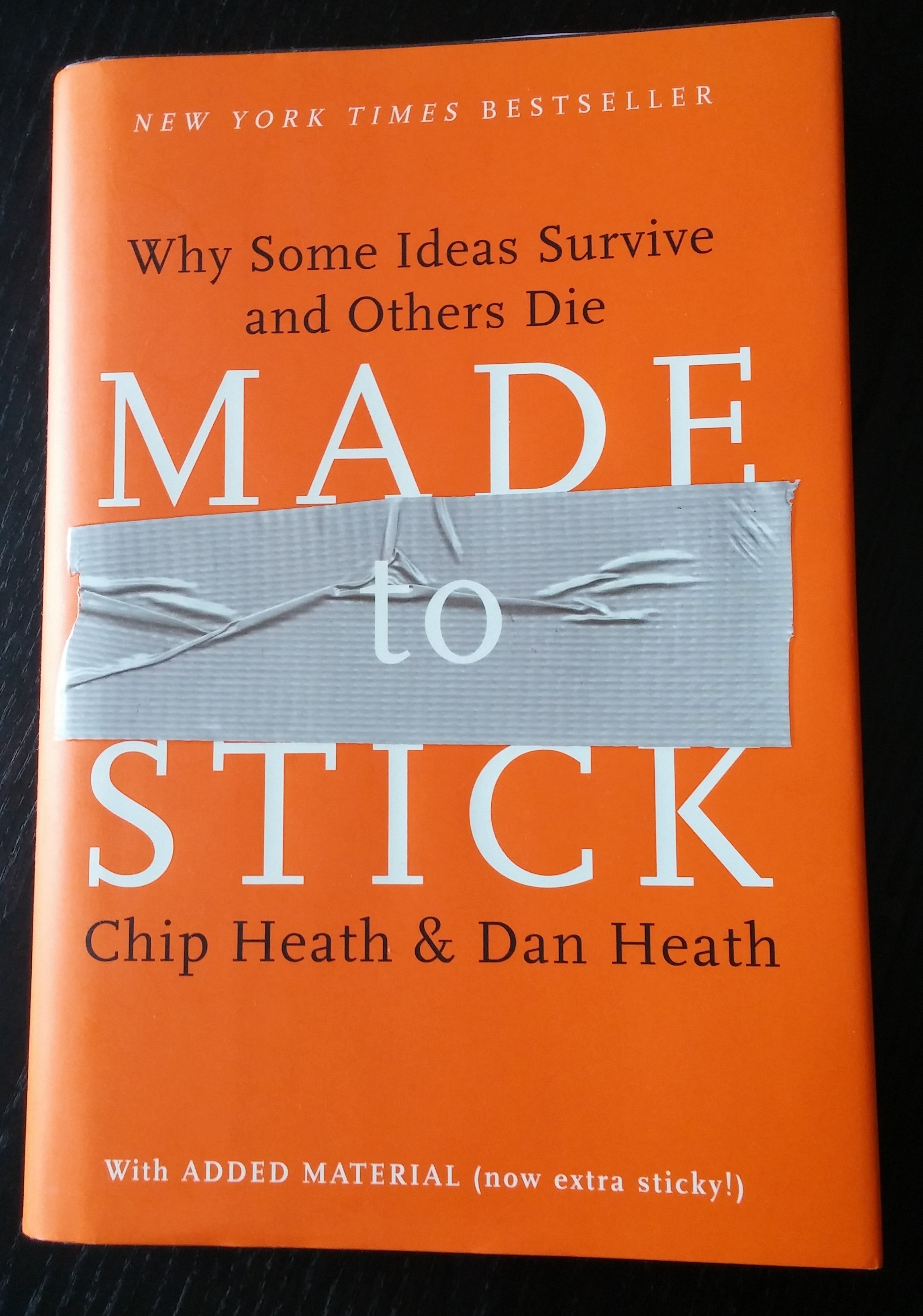 """Made to Stick"" a book that help to make your speech content memorable."