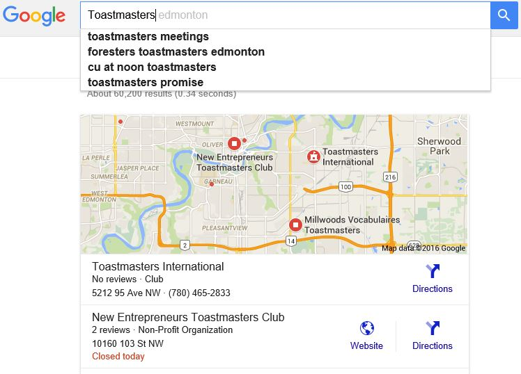 Toastmasters Search Engine Optimization